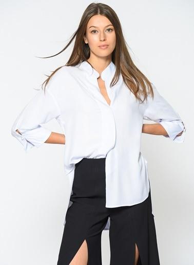 Loves You İnci Detaylı Gömlek Beyaz